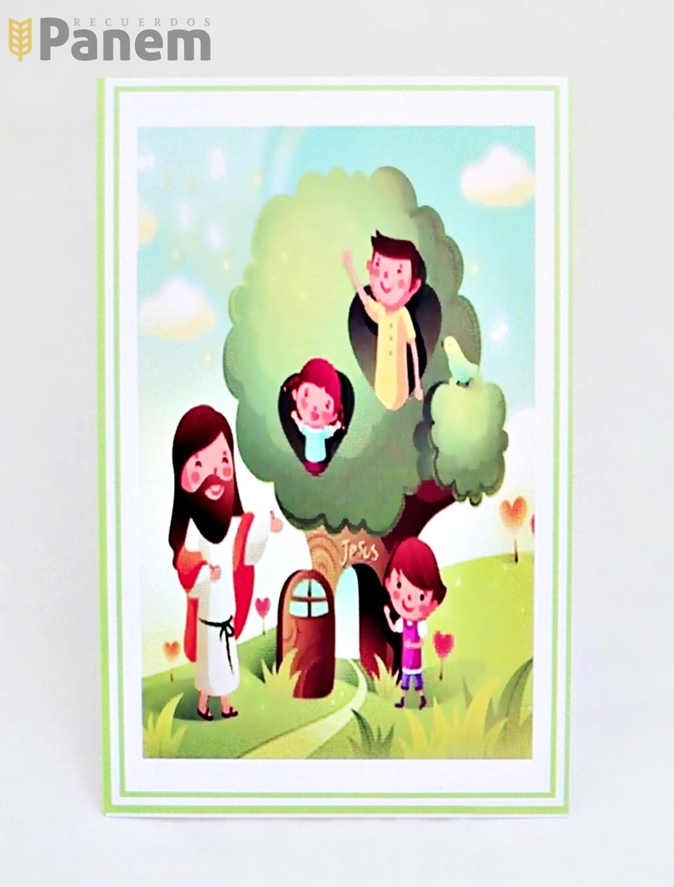 18d251e141e Santitos Jesus con niños en el arbol (Valor por docena) - Recuerdos ...
