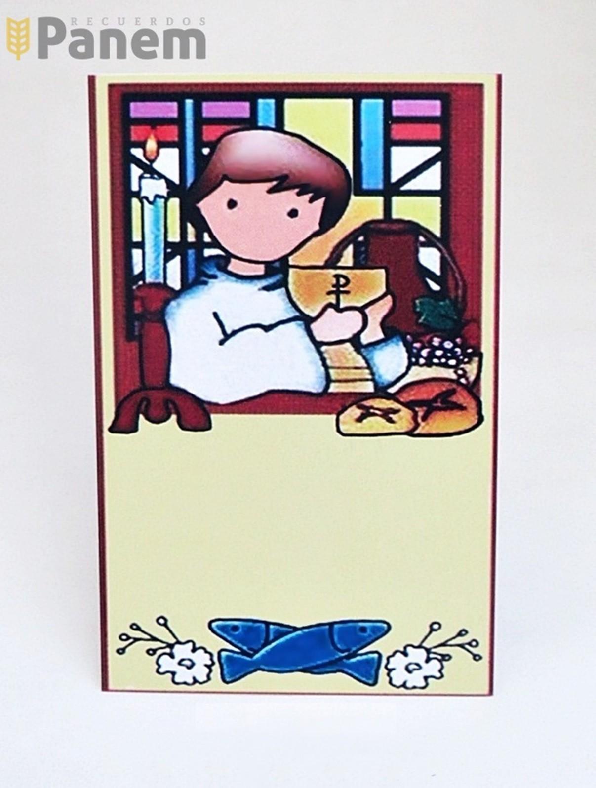 43a1bf68dd7 Santitos Primera Comunion Niño Pan y Caliz (Valor por docena ...