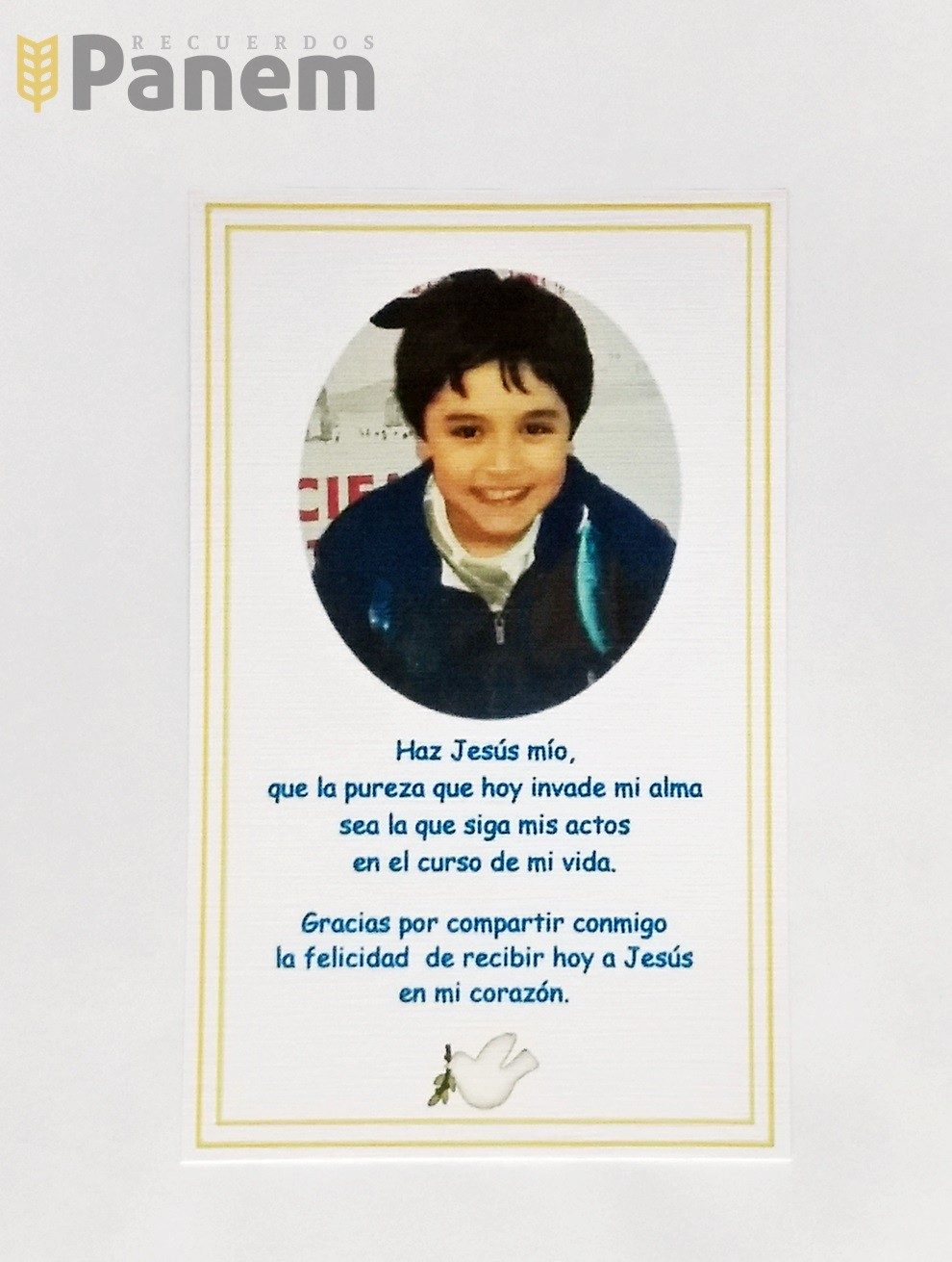 726a788405d Santitos con foto niño (Valor por docena) - Recuerdos Panem