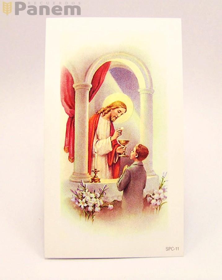 29fb0be06e6 Santitos Jesus y Comunion niño (Valor por docena) - Recuerdos Panem
